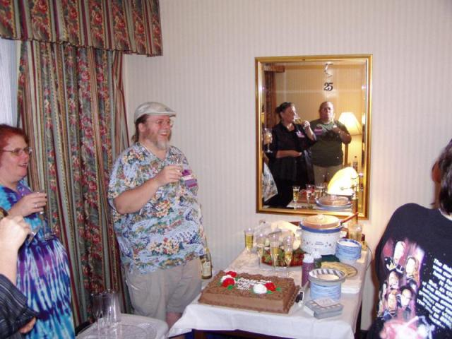 Anniversary party 4; johno makes the toast