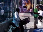 Steel drum street musician